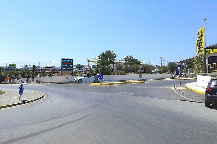Die Einfahrt am Kreisverkehr