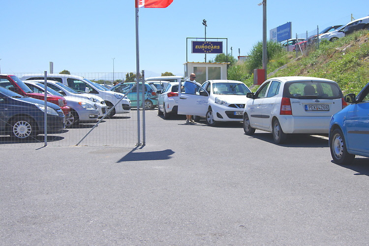 Beim Eurocars-Parkplatz