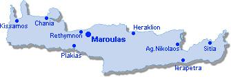 Maroulas: Lageplan