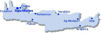Agia Marina: Lageplan