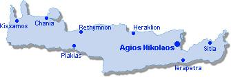 Agios Nikolaos: Lageplan