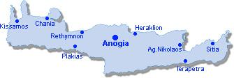 Anogia: Lageplan