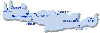 Georgioupolis: Lageplan