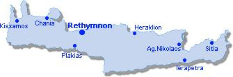 Rethymnon: Lageplan