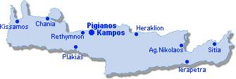 Pigianos Kampos: Lageplan