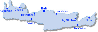Bali: Lageplan