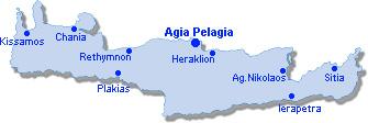 Agia Pelagia: Lageplan