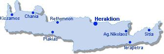 Heraklion: Lageplan