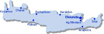 Elounda: Lageplan