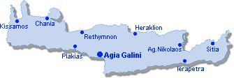 Agia Galini: Lageplan
