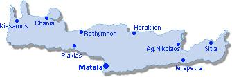 Matala: Lageplan