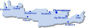 Hersonissos: Lageplan